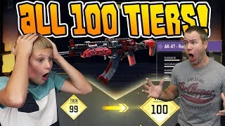MY SON GETS all 100 Tiers on CALL OF DUTY MOBILE!