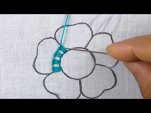 Hand Embroidery New Colourful Unique Flower Stitch, Fantasy Flower Needle Work, Sewing Tips & Flower