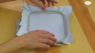 Basic Embroidery Hooping
