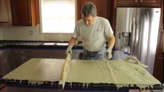 Concrete Countertop - Pouring