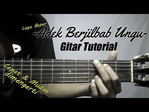 gitar tutorial  adek berjilbab ungu biru  mudah   cepat dimengerti untuk pemula