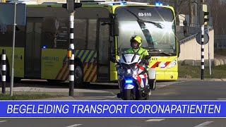 Begeleiding transport coronapatiënten | Politie | Motorondersteuning & Verkeer Noord -Nederland