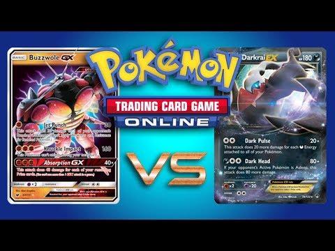 Buzzwole GX / Garbodor vs Turbo Darkrai EX – Expanded Pokemon TCG Online Game Play