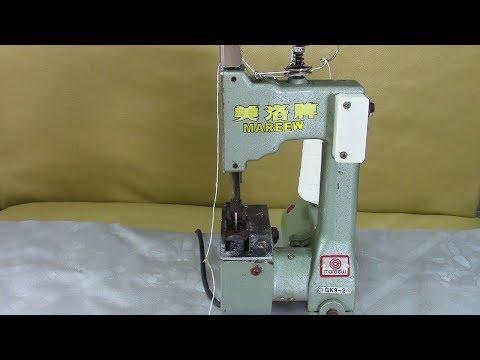 Мешкозашивочная машина GK9 - 2.  Основные регулировки и смазка. Видео № 289.