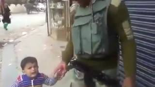 funny crying kid want to gun ...