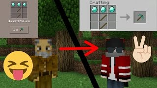 change your crafting mode to pc mode (classic) 1.0+ | minecraft pe
