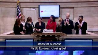 1 April 2011 Dress for Success rang NYSE Closing Bell