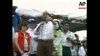NICARAGUA: FORMER PRESIDENT DANIEL ORTEGA ATTENDS MASS RALLY