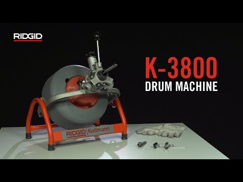 RIDGID K-3800 Drum Machine