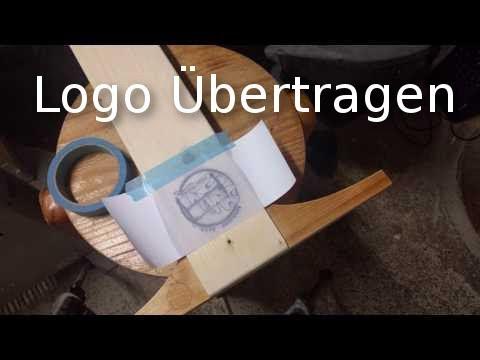 Quick : Logo auf Holz / Logo transfer to wood.