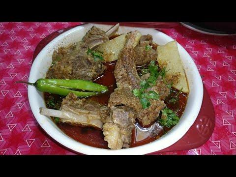 Mutton Shorba Aloo Gosht    Traditional Recipe of Aloo Gosht