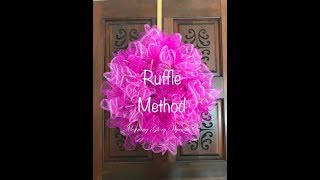 How To Make A Deco Mesh Wreath-ruffle Method (Hyperlapse)