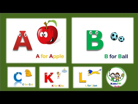 A for apple B for Ball alphabets Song ABC Song for