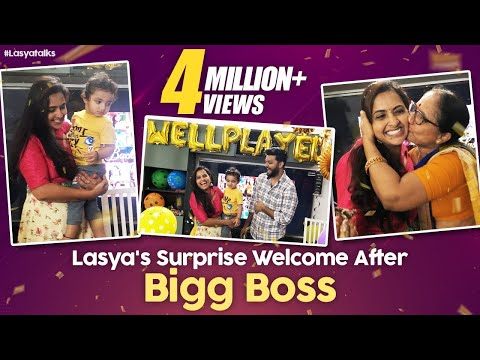Achor Lasya Welcome Surprise After Bigg Boss 4