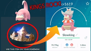 Slowking  - (Pokémon) - Pokemon Go Gen 2 KINGS ROCK - found!!! Evolving SLOWKING