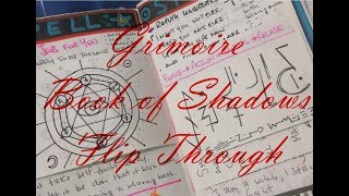 Grimoire Book Of Shadows Flip Through