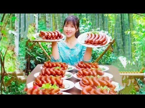 #大胃王 農村吃貨挑戰30斤香腸Eat 30 jin of sausage at a meal