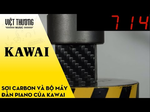 Sức mạnh kinh ngạc của sợi Carbon và bộ máy Piano tiên phong công nghệ của Kawai Japan