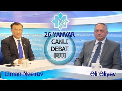 """İqtidar-müxalifət """"duel""""i : Elman Nəsirovla Əli Əliyev """"Canlı debat""""da"""