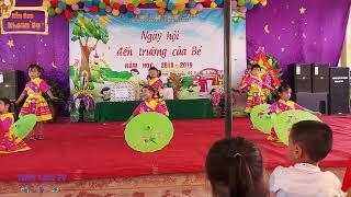 Múa Đi học xa - Múa thiếu nhi dân tộc - Các bé trường mầm non Khoan Dụ ♥Thục Linh TV♥