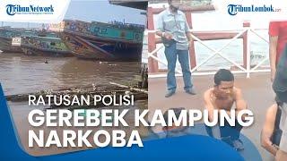 Dramatis! Ratusan Polisi Gerebek Kampung Narkoba di Palembang, Aparat Disambut Tembakan Petasan