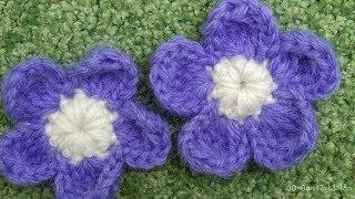 ПРОСТОЙ ЦВЕТОК КРЮЧКОМ/ КАК СВЯЗАТЬ ЦВЕТОЧЕК/ Crochet flower