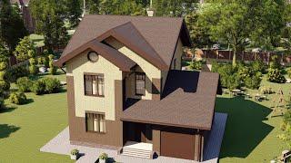 Проект дома 143-A, Площадь дома: 143 м2, Размер дома:  12,7x11 м