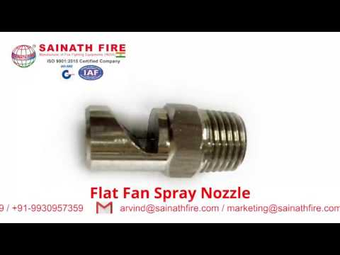Flat Spray Nozzle -Wide Angle Deflected Spray Pattern