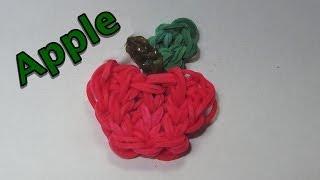 Rainbow Loom Charms: APPLE: How To Design / Tutorial (DIY Mommy)