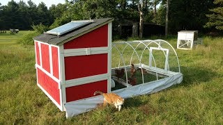Homemade, Self Moving Chicken Tractor!