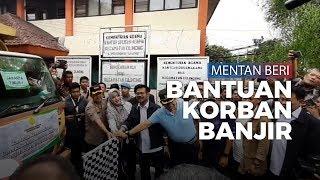 Menteri Pertanian Berikan 11 Truk Bantuan Korban Banjir Jakarta dan Tangsel