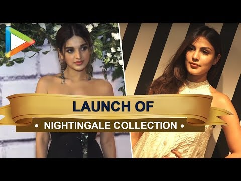 Rhea Chakraborty and Nidhhi Agerwal at the launch of Rebecca Dewan's Nightingale Collection