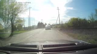 Near miss crash leaving work - Video Youtube