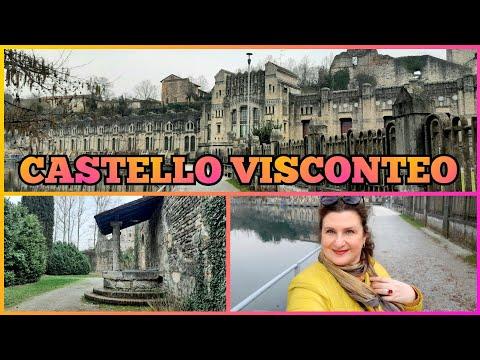 Castello Visconteo, parco, pozzo Vercellino 🔮 ЗАМОК ВИСКОНТЕО, ПАРК, ДРЕВНИЙ КОЛОДЕЦ 🇮🇹 Италия