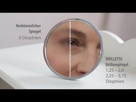 NEU BRILLETTA statt Schminkbrille Dioptrien spiegel Schminken ohne Brille +1,25 bis +3,75 dpt
