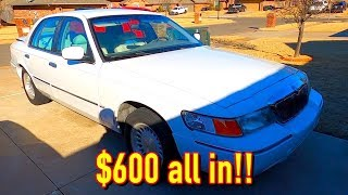 $450 Copart 98 Mercury Grand Marquis LS is 100% Fixed! $600 ALL IN!