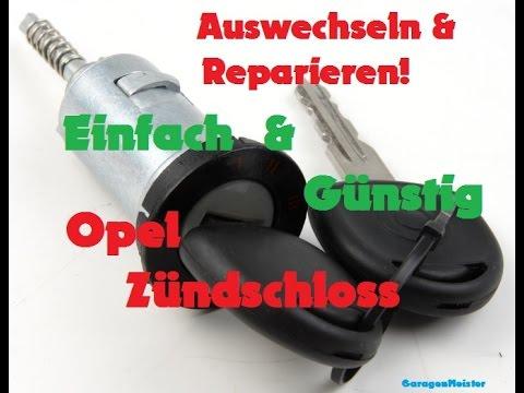 Opel Zündschloss durch gebrauchtes Opel Zündschloss auswechseln  [GER] [Full HD]