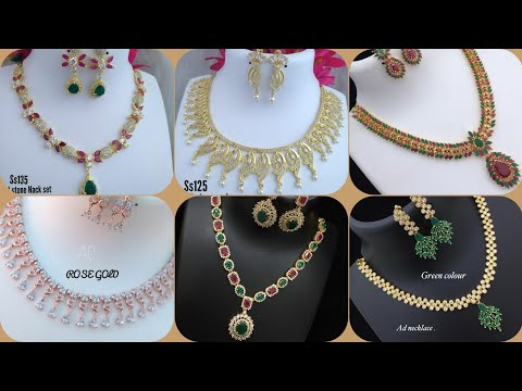 6d36c0af61c632 American Diamond Necklace Set in Delhi, अमेरिकन डायमंड ...