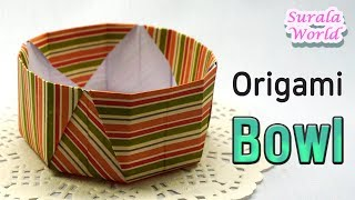 Origami :  Piring, Mangkuk, Kotak, Keranjang