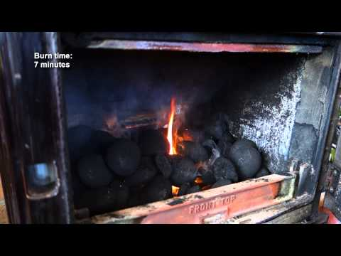 Lighting a smokeless coal fire with two kindling pieces and one firelighter