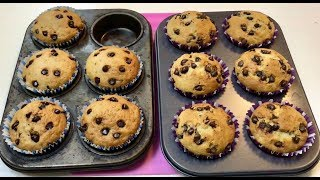 oatmeal chocolate chip muffins without eggs