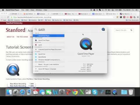 Tính năng Quay phim màn hình có sẵn Mac OS X 10.10