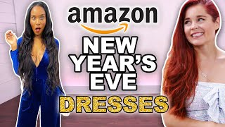 We Try Amazon New Year's Eve Dresses!