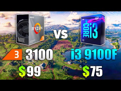 R3 3100 99美金 與 i3 9100F 75美金 性能比較