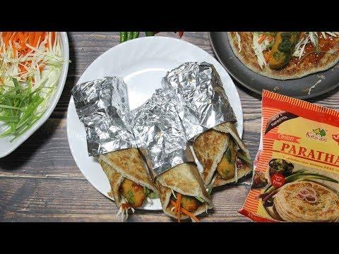 Vegetable Frankie | Kathi Rolls Video Recipe using Frozen Flaky Onion Paratha | Bhavna's Kitchen