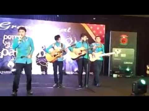 Mr A covered Mine by Petra Live At Grand Final Bujang Gadis Palembang 2014