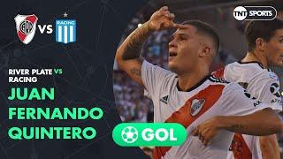 Juan Fernando Quintero (1-0) River Plate Vs Racing | Fecha 18 - Superliga Argentina 2018/2019