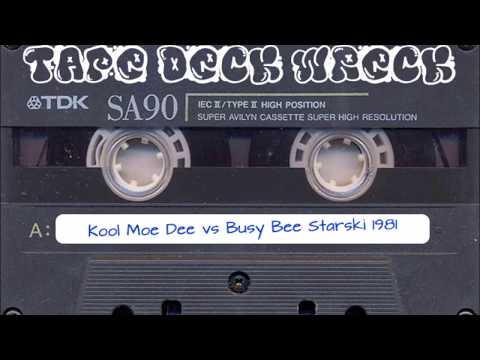 Kool Moe Dee vs Busy Bee Starski Dec 1981 Harlem World (restored)