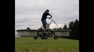 Homemade Hoverbike Test