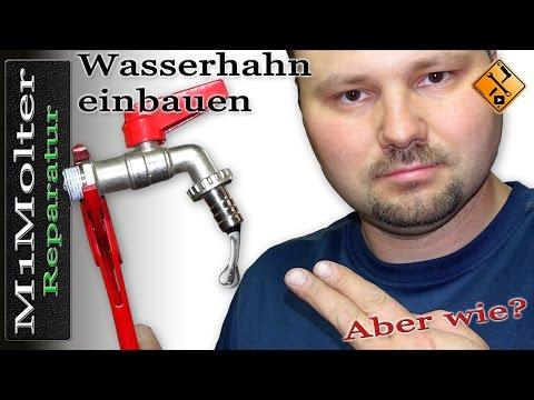 Wasserhahn installieren Anleitung - Bauform Kugel / Auslaufhahn 1/2